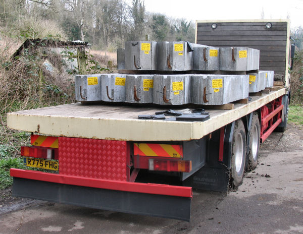 reinforced concrete beams destined for Freshford Mill Block H